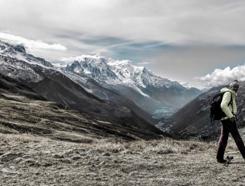 Marie-Paule, accompagnatrie en montagne