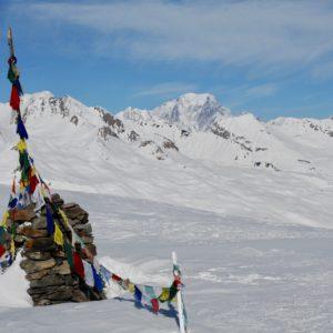 sommet du dôme de Vaugel face au Mont-blanc