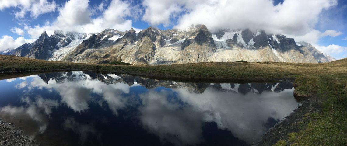 le massif du Mont blanc coté Italien