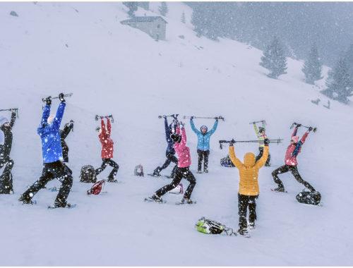 exercices de yoga dans la neige