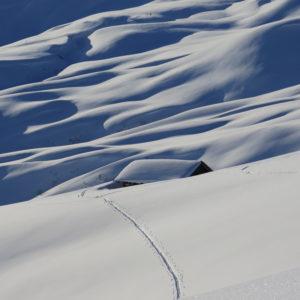 les belles pentes enneiges du Beaufortain
